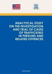 Analytical Study on the investigation and trial of ... - IOM Moldova