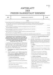 AMTSBLATT DER FREIEN HANSESTADT BREMEN - E-LIB