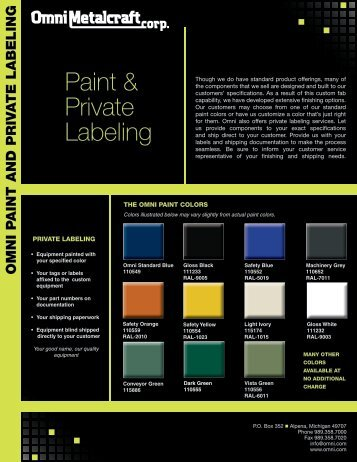 Paint & Private Labeling