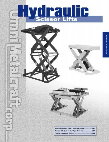 Hydraulic Scissor Lifts - Omni Metalcraft Corp.