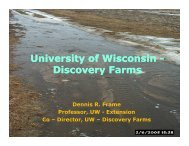 University of Wisconsin University of Wisconsin - Discovery Farms