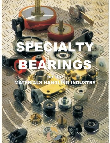 specialty bearings - Anthony Innovations