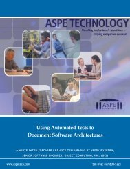 Using Automated Tests to Document Software Architectures - ASPE