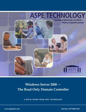 Windows Server 2008 - The Read Only Domain Controller - ASPE