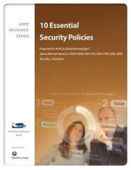 Ten Essential Security Policies - ASPE