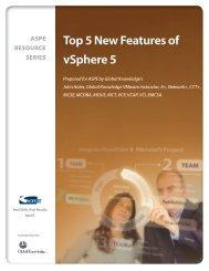 Top 5 New Features of VMware vSphere 5.0 - ASPE