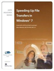 NEW! — Speeding Up File Transfers in Windows® 7 - ASPE
