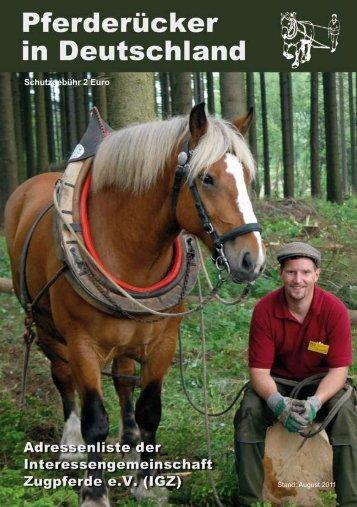 Schutzgebühr 2 Euro - Interessengemeinschaft Zugpferde in ...