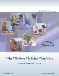 Why Windows 7 is Better Than Vista - ASPE
