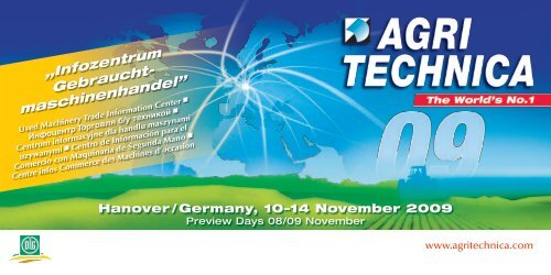 Used Machinery Trade -  Agritechnica