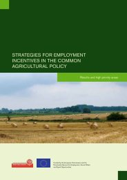 Strategies for employment incentives in the common agricultural ...