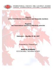 2006-2007 - Conseil international d'études canadiennes