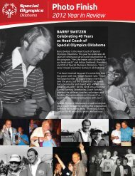 2012 year end newsletter - Special Olympics Oklahoma