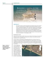 Building a model in The claSSroom To illuSTraTe human ...