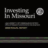 2010 Annual Report - UM InfoPoint - University of Missouri System