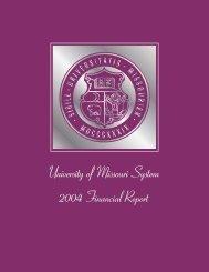FY 2004 - University of Missouri System