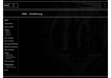 XML - Institut für Dokumentologie und Editorik - Universität zu Köln