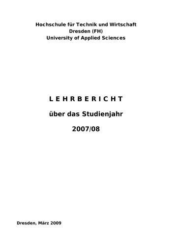 Lehrbericht - StuRa HTW Dresden