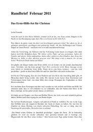 Rundbrief Februar 2011 Das Erste-Hilfe-Set für Christen - Awme.de