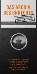 das archiv des unrechts - Bundesstiftung zur Aufarbeitung der SED ...
