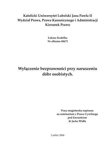 Aksjologia i rozwój dóbr osobistych, - VaGla.pl Prawo i Internet