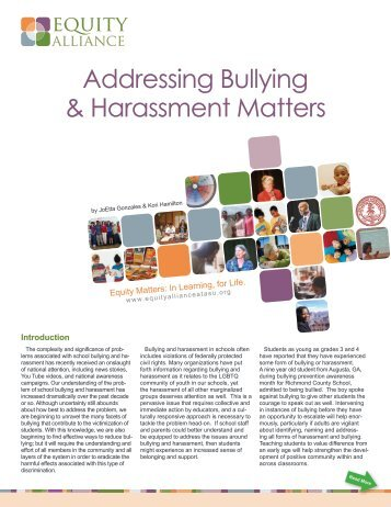 Addressing Bullying & Harassment Matters - NIUSI Leadscape