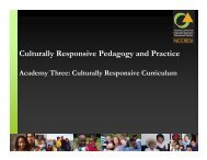 Culturally Responsive Pedagogy and Practice - NIUSI Leadscape