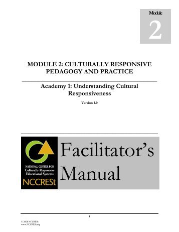 Culturally Responsive Pedagogy And Practice Niusi Leadscape