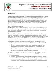 Rivers Protection Act - Cape Cod Cranberry Growers' Association
