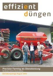 Precision Farming als Dienstleistung - Effizientduengen.de, Yara ...
