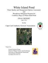 White Island Pond - Cape Cod Cranberry Growers' Association