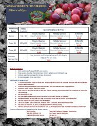 Find out - Cape Cod Cranberry Growers' Association
