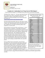 Antioxidant Level Tops List in USDA Report