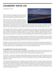 cranberry water use - Cape Cod Cranberry Growers' Association