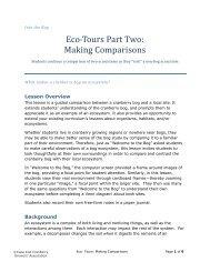 Making Comparisons - Cape Cod Cranberry Growers' Association