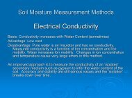 Soil Moisture Measurement Methods Neutron Probe