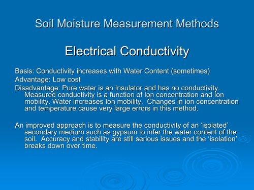 Soil Moisture Measurement Methods Neutron Probe