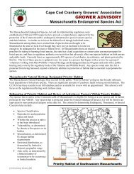 Massachusetts Endangered Species Act - Cape Cod Cranberry ...