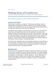 Making Sense of Cranberries - Cape Cod Cranberry Growers ...