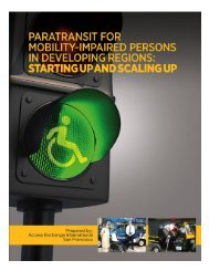 Paratransit for mobility impaired persons in developing regions ...
