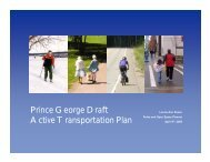 Active Transportation - Measuring Up The North