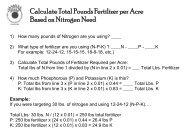 Calculate Total Pounds Fertilizer Per Acre