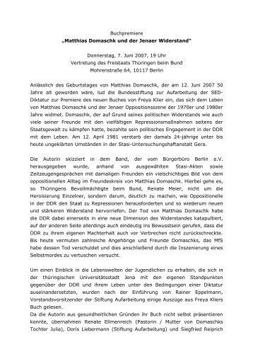 Veranstaltungsbericht [30 KB] - Bundesstiftung zur Aufarbeitung der ...