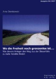 Titelseite und Inhaltsverzeichnis als PDF - Anke Dembowski