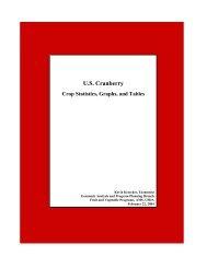 U.S. Cranberry Crop, Statistics, Graphs and Tables: Through 2003 ...