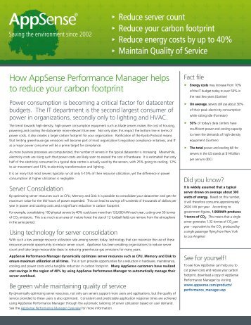How AppSense Performance Manager helps to reduce your carbon ...