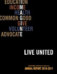 2010-2011 Annual Report - United Way of Denton County