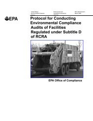 Protocol for Conducting Environmental Compliance Audits of - US ...