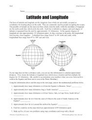 Using Latitude and Longitude to Calculate Distance
