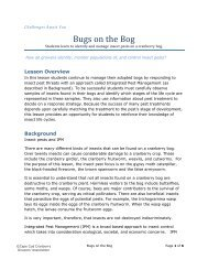 Bugs on the Bog - Cape Cod Cranberry Growers' Association